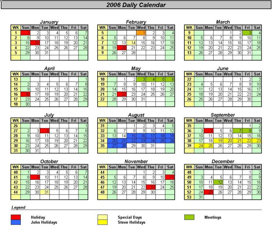 Quarterly Calendar Template Excel Shefftunes